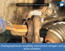 VW Lupo Radlagergehäuse der Radnabe reinigen