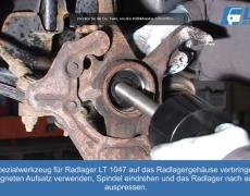 VW lupo Radlagerwerkzeug LT 1047 verwenden