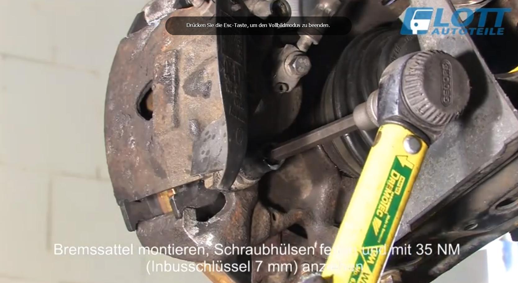 VW Lupo Bremssattelschrauben festziehen