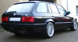Heckanschicht E30 Touring mit M3 Auspuffanlage