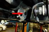 Querlenker ausgebaut Nissan Micra K12