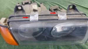 Scheinwerfer BMW E36 316 zerlegen