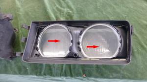 Streugläser Scheinwerfer BMW E36 316i